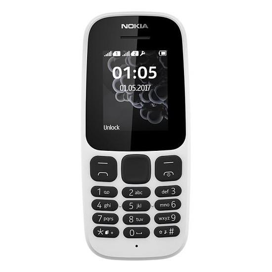 Smartphone et téléphone mobile Nokia 105 (TA-1034) - Double SIM (blanc)