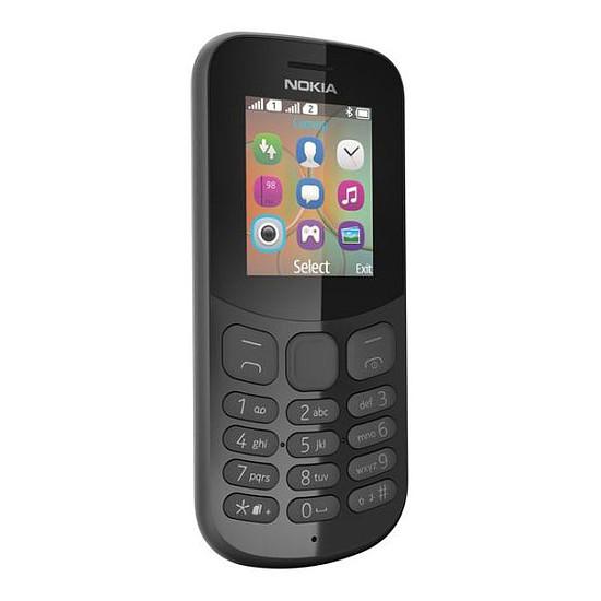 Smartphone et téléphone mobile Nokia 130 (TA-1017) - Double SIM (noir)