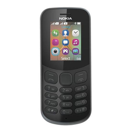 Smartphone et téléphone mobile Nokia 130 (TA-1017) - Double SIM (noir) - Autre vue