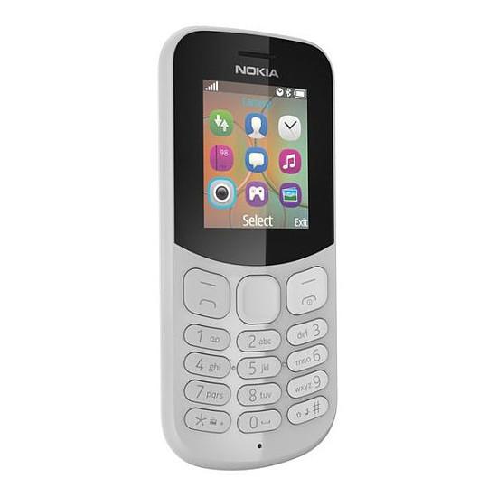 Smartphone et téléphone mobile Nokia 130 (TA-1017) - Double SIM (gris)