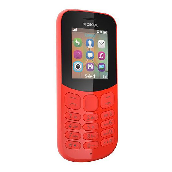 Smartphone et téléphone mobile Nokia 130 (TA-1017) - Double SIM (rouge)