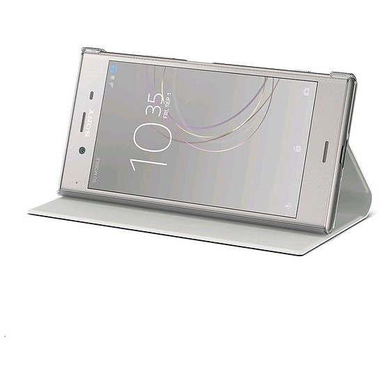 Coque et housse Sony Style Cover Stand (ivoire) - Sony Xperia XZ1 - Autre vue