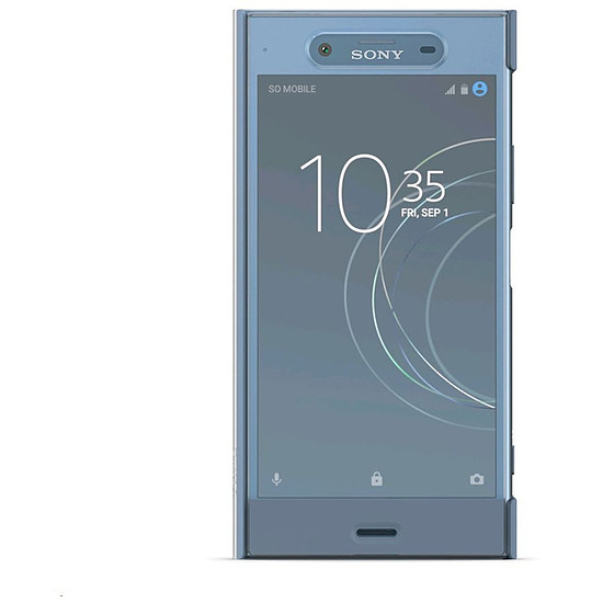 Coque et housse Sony Style Cover touch (bleu gris) - Sony Xperia XZ1