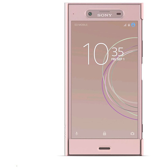 Coque et housse Sony Style Cover touch (rose) - Sony Xperia XZ1