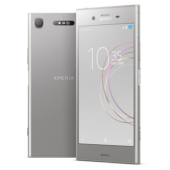 Smartphone et téléphone mobile Sony Xperia XZ1 (argent) - Double SIM