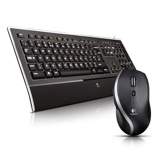 Pack clavier-souris bureautique Logitech K740 + M500