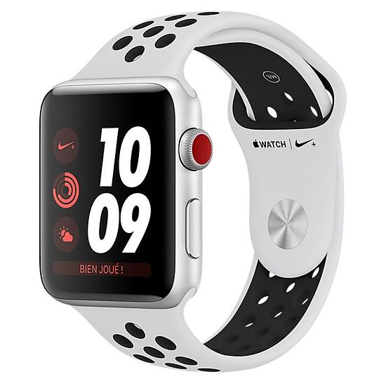 Montre connectée Apple Watch Series 3 Nike+ (argent - platine/noir) - Cellular - 38 mm