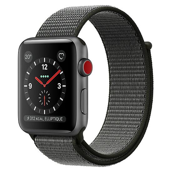 Montre connectée Apple Watch Series 3 (gris sidéral - olive) - Cellular - 38 mm