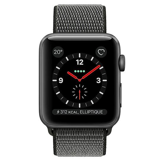 Montre connectée Apple Watch Series 3 (gris sidéral - olive) - Cellular - 38 mm - Autre vue