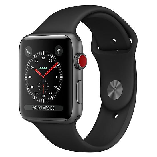 Montre connectée Apple Watch Series 3 (gris sidéral - noir) - Cellular - 42 mm
