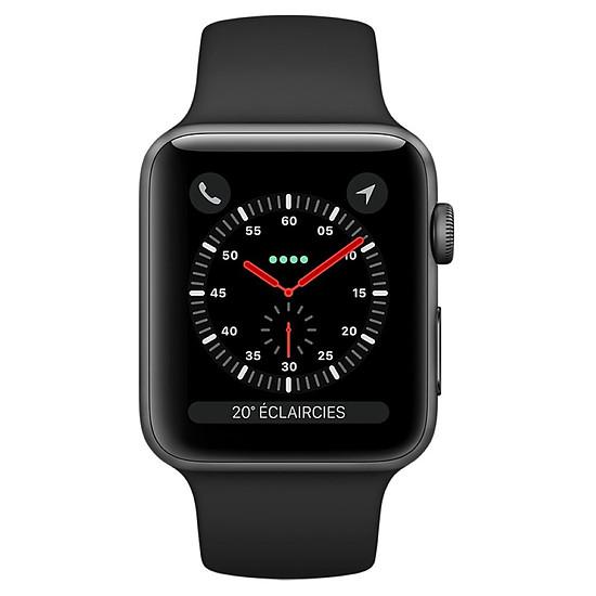 Montre connectée Apple Watch Series 3 (gris sidéral - noir) - Cellular - 42 mm - Autre vue