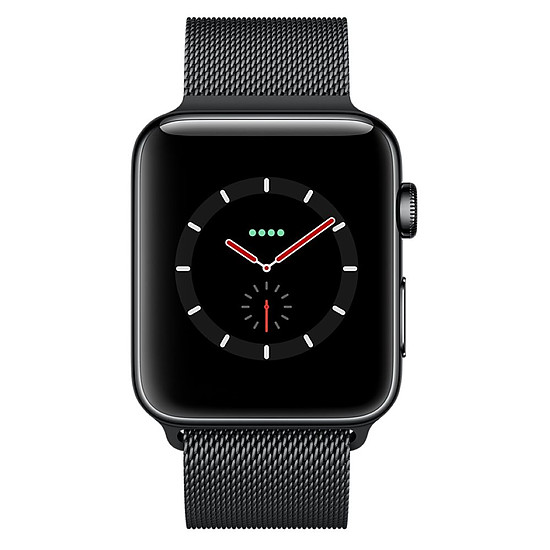 Montre connectée Apple Watch Series 3 (noir - noir) - Cellular - 38 mm - Autre vue