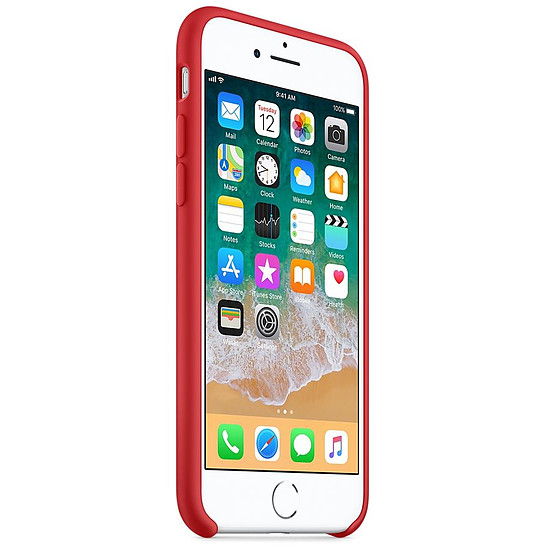 coque iphone 8 silicon rouge