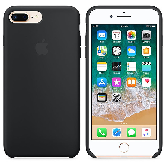 Coque et housse Apple Coque silicone (noir) - iPhone 8 Plus / 7 Plus - Autre vue