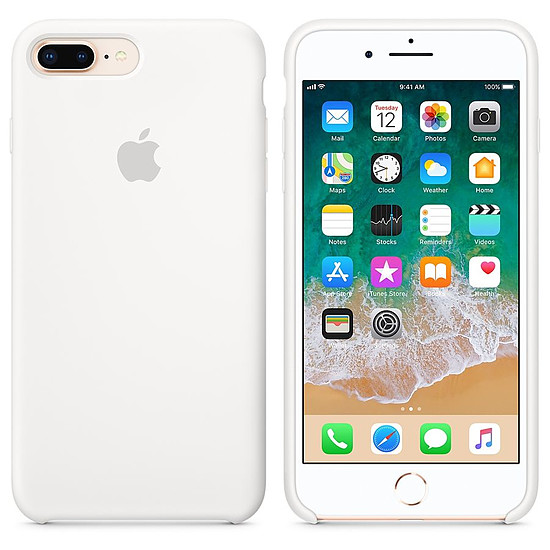 Coque et housse Apple Coque silicone (blanc) - iPhone 8 Plus / 7 Plus - Autre vue