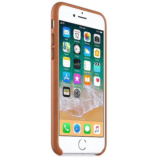 Coque et housse Apple Coque cuir (havane) - iPhone 8 / 7