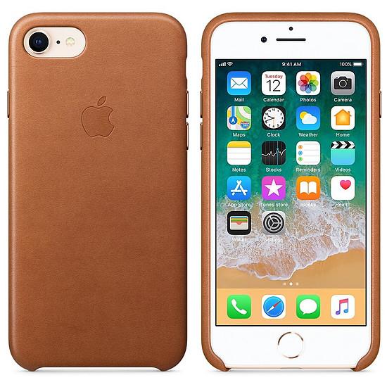 Coque et housse Apple Coque cuir (havane) - iPhone 8 / 7 - Autre vue