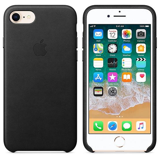 Coque et housse Apple Coque cuir (noir) - iPhone 8 / 7 - Autre vue