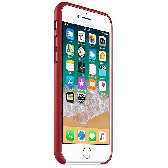 Coque et housse Apple Coque cuir (rouge) - iPhone 8 / 7