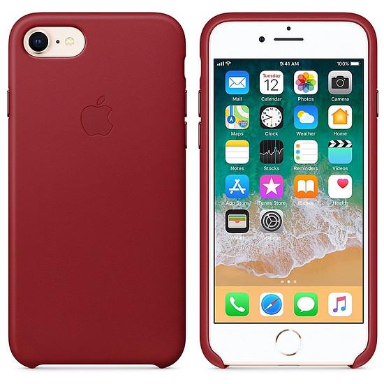Coque et housse Apple Coque cuir (rouge) - iPhone 8 / 7 - Autre vue