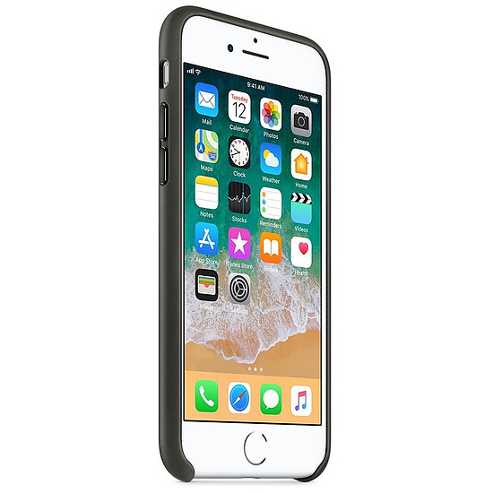 Coque et housse Apple Coque cuir (anthracite) - iPhone 8 / 7