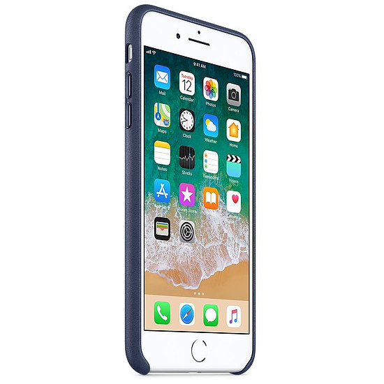Coque et housse Apple Coque cuir (bleu nuit) - iPhone 8 Plus / 7 Plus
