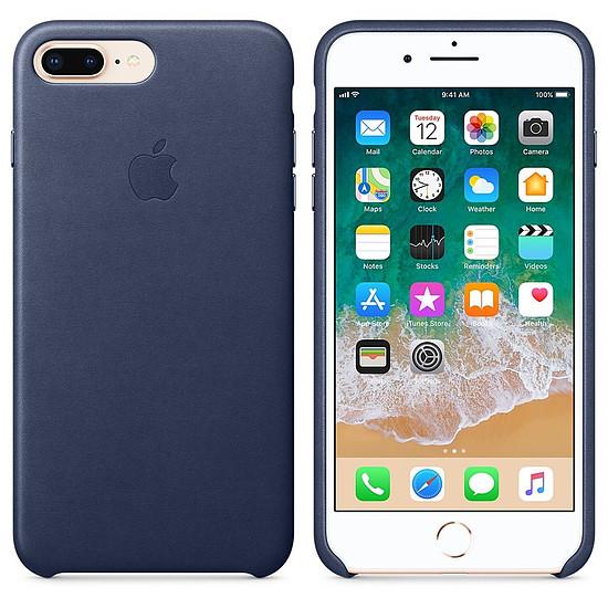 Coque et housse Apple Coque cuir (bleu nuit) - iPhone 8 Plus / 7 Plus - Autre vue