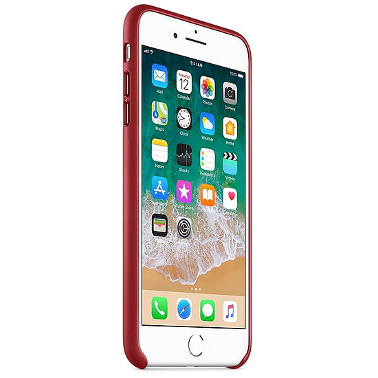 Coque et housse Apple Coque cuir (rouge) - iPhone 8 Plus / 7 Plus