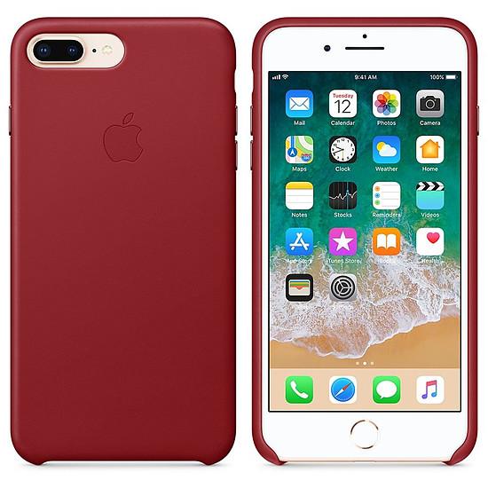 Coque et housse Apple Coque cuir (rouge) - iPhone 8 Plus / 7 Plus - Autre vue