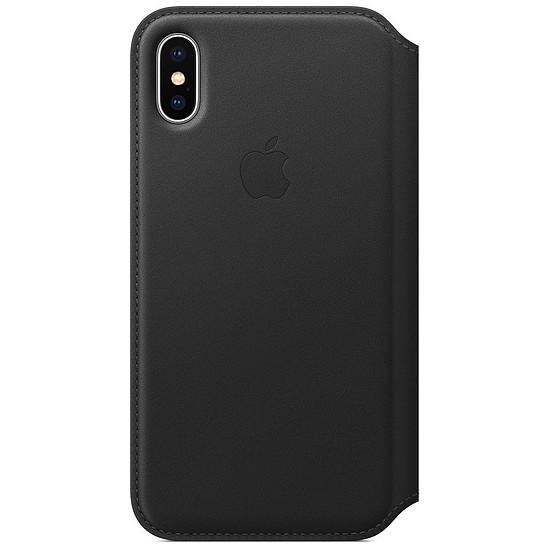 Coque et housse Apple Etui folio cuir (noir) - iPhone X - Autre vue