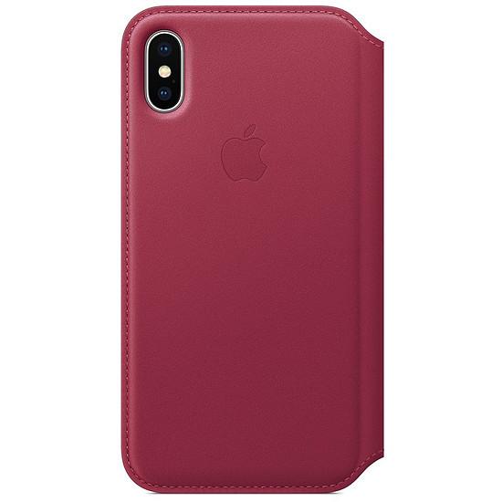 Coque et housse Apple Etui folio cuir (fruits rouge) - iPhone X - Autre vue