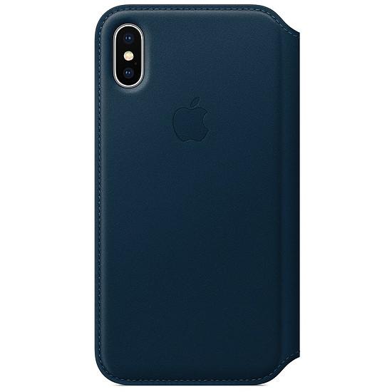 Coque et housse Apple Etui folio cuir (bleu cosmos) - iPhone X - Autre vue