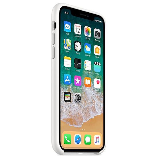 Coque et housse Apple Coque silicone (blanc) - iPhone X