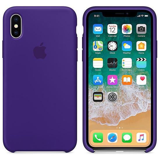 Coque et housse Apple Coque silicone (ultra violet) - iPhone X - Autre vue