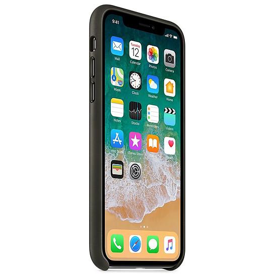Coque et housse Apple Coque cuir (anthracite) - iPhone X