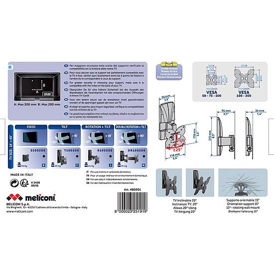 Support TV Meliconi Ghost Slim GS 100200T - Autre vue