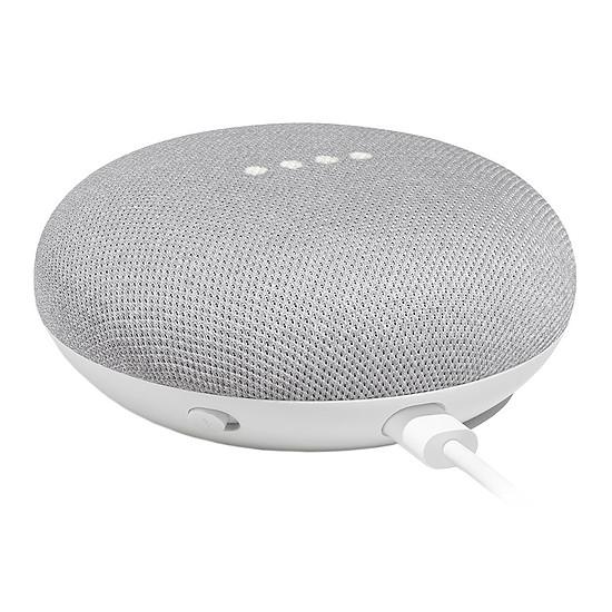 Enceinte sans fil Google Home Mini Blanc - Enceinte connectée - Autre vue