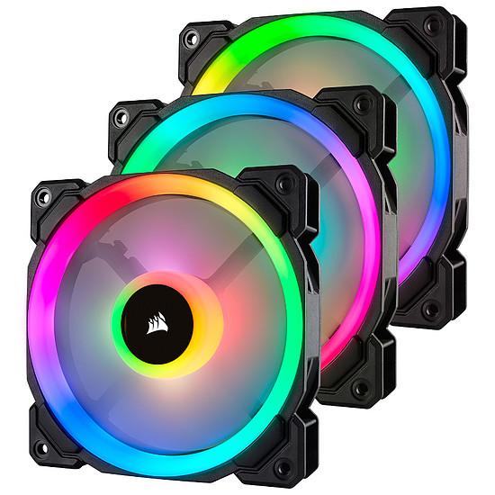 Ventilateur Boîtier Corsair LL120 RGB -  120MM PWM PACK DE 3 + Node Pro