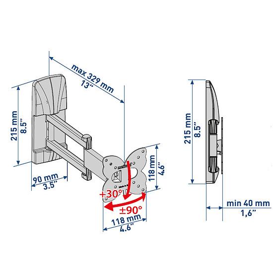 Support TV Meliconi Ghost Slim GS 100200DR - Autre vue