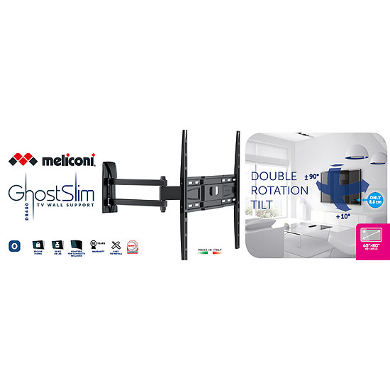 Support TV Meliconi Ghost Slim GS 400DR - Autre vue