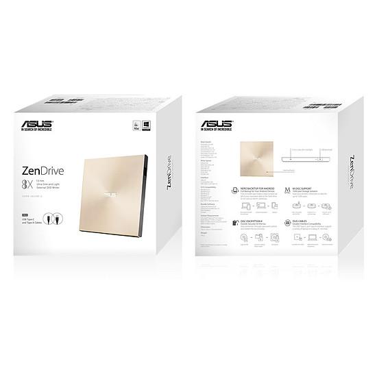 Lecteurs et graveurs Blu-ray, DVD et CD Asus Graveur DVD - ZenDrive U9M  - Or - Autre vue