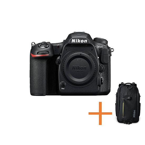 Appareil photo Reflex Nikon D500 (Boitier nu) + sac à dos