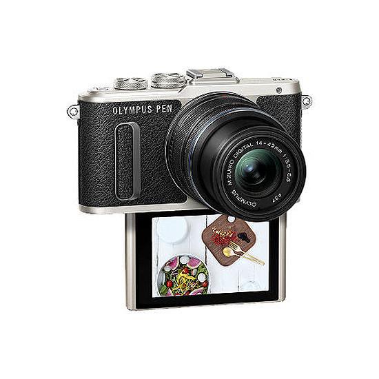 Appareil photo hybride Olympus PEN E-PL8 noir + EZ Pancake 14-42 mm - Autre vue