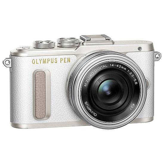 Appareil photo hybride Olympus PEN E-PL8 blanc + EZ Pancake 14-42 mm