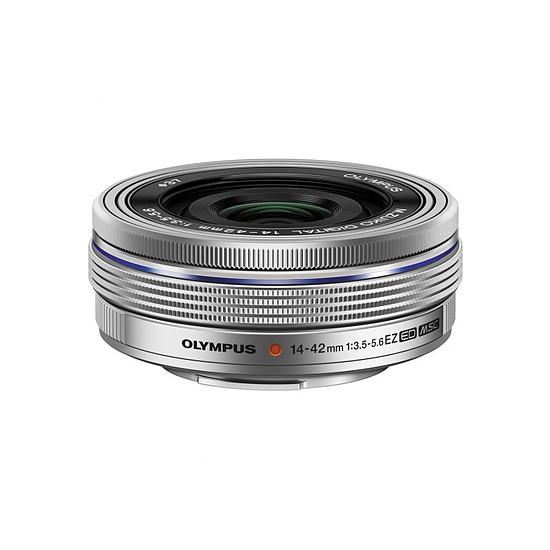 Appareil photo hybride Olympus PEN E-PL8 blanc + EZ Pancake 14-42 mm - Autre vue