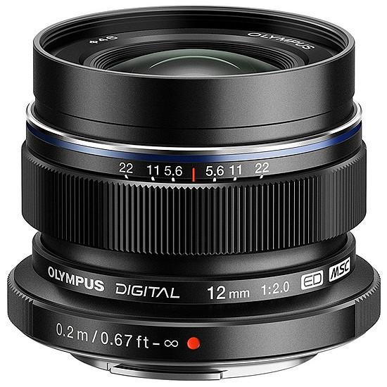 Objectif pour appareil photo Olympus M. Zuiko Digital ED 12 mm f/2.0 noir