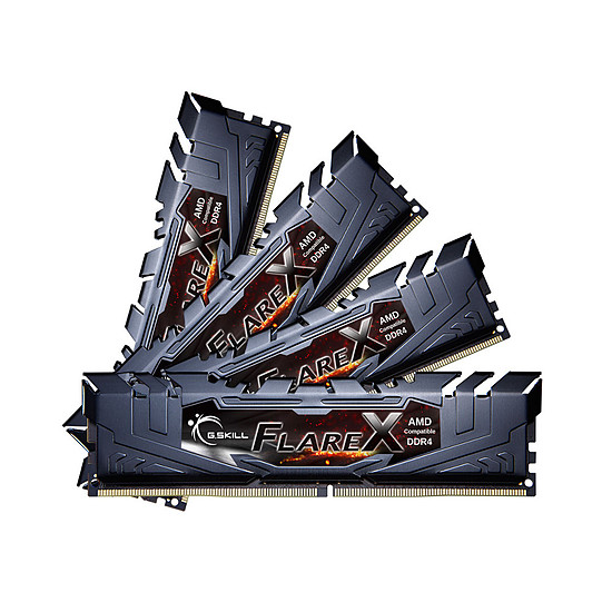 Mémoire G.Skill Flare X Black DDR4 4 x 8 Go 3200 MHz CAS 14