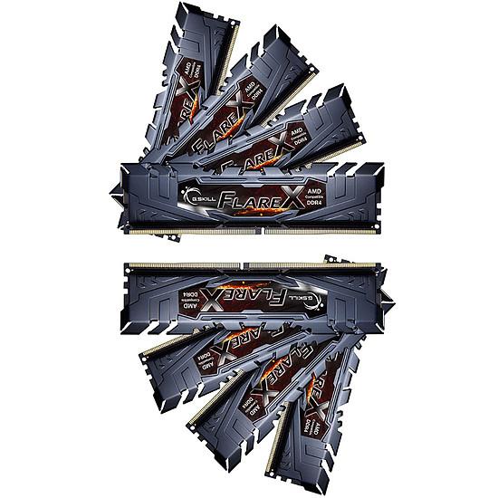 Mémoire G.Skill Flare X Black DDR4 8 x 16 Go 2933 MHz CAS 16