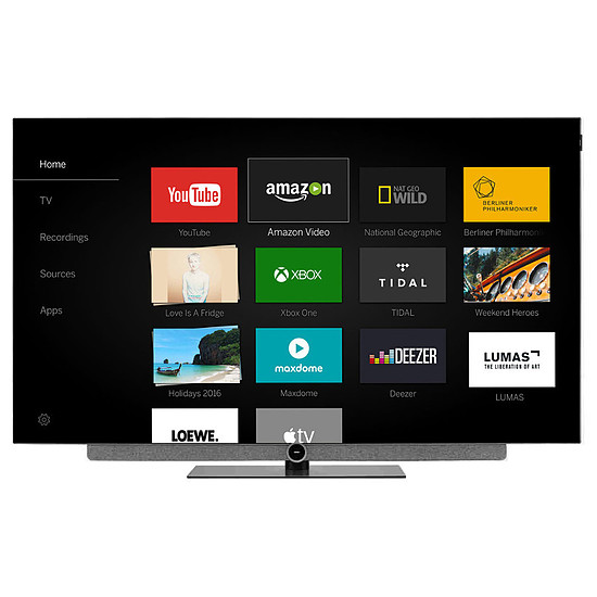 TV Loewe TV BILD 3 55 - TV OLED 4K UHD HDR - 140 cm Gris clair