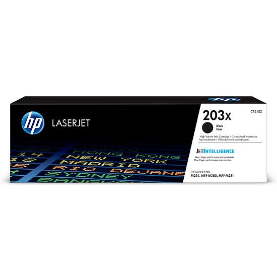 Toner imprimante HP 203X - Noir (CF540X) - Haute capacité